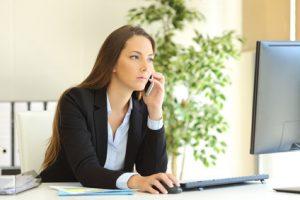 Geschäftsfrau Sachbearbeiterin Bürokraft