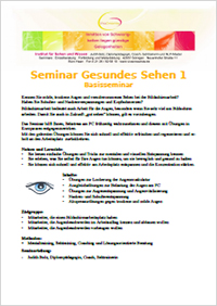Ausschreibung Gesundes Sehen Basisseminar