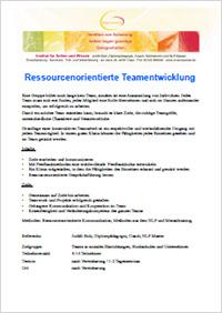 Seminar Ressourcenorientierte Teamentwicklung