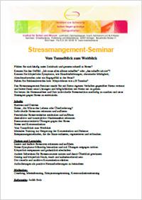 Seminar Stressmanagement - vom Tunnelblick zum Weitblick