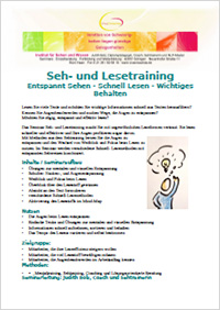 Seminar Sehtraining Lesetraining