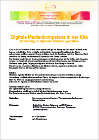 Seminar Digitale Medienkompetenz in der Kita